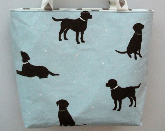Labrador themed bag, doggie themed bag, chocolate lab bag, gift for dog lover, dog lover bag, book bag