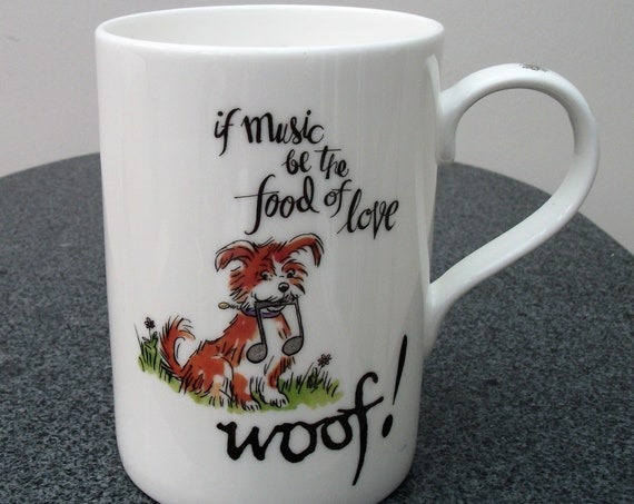 Doggie themed mug, gift for dog lover, dog walker gift, dog sitter gift, dog themed mug, bone china mug,