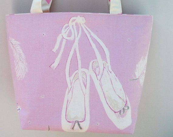 Swan Lake Ballerina tote bag, Ballet themed tote bag, Ballet bag, Ballet gift, gift for her, gift for ballerina, Long handled tote bag,