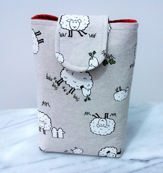 Book pouch, gift for book lover,sheep themed gift,  book cover, gift for animal lover, student gift, gift for mom, paperback cover,