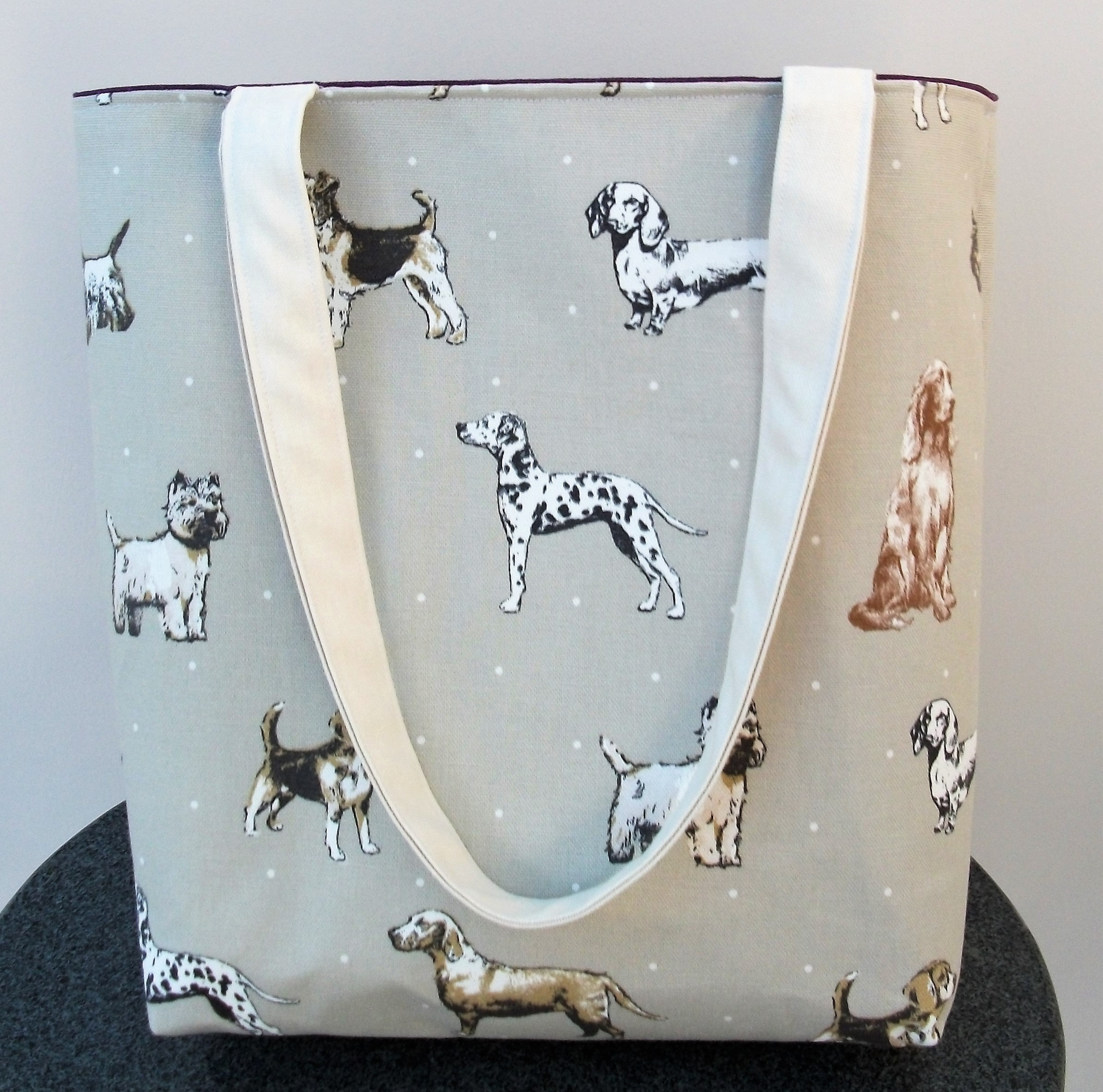 Dog Themed Tote Bag Dog Lover Giftreusable Shopping Bag Bookbag