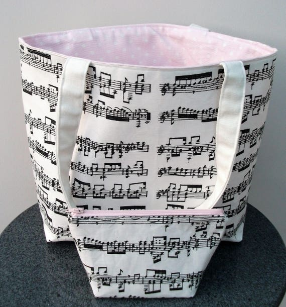 Mozart small tote bag, music themed tote bag, gift for musician, music teacher gift, gift for violinist, gift for her