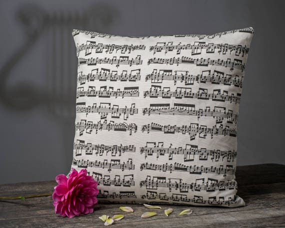 Music Pillow, Music Cushion, music room decor, Double-sided luxury cushion, Musician gift, Music decor, gift for musician, gift for harpist