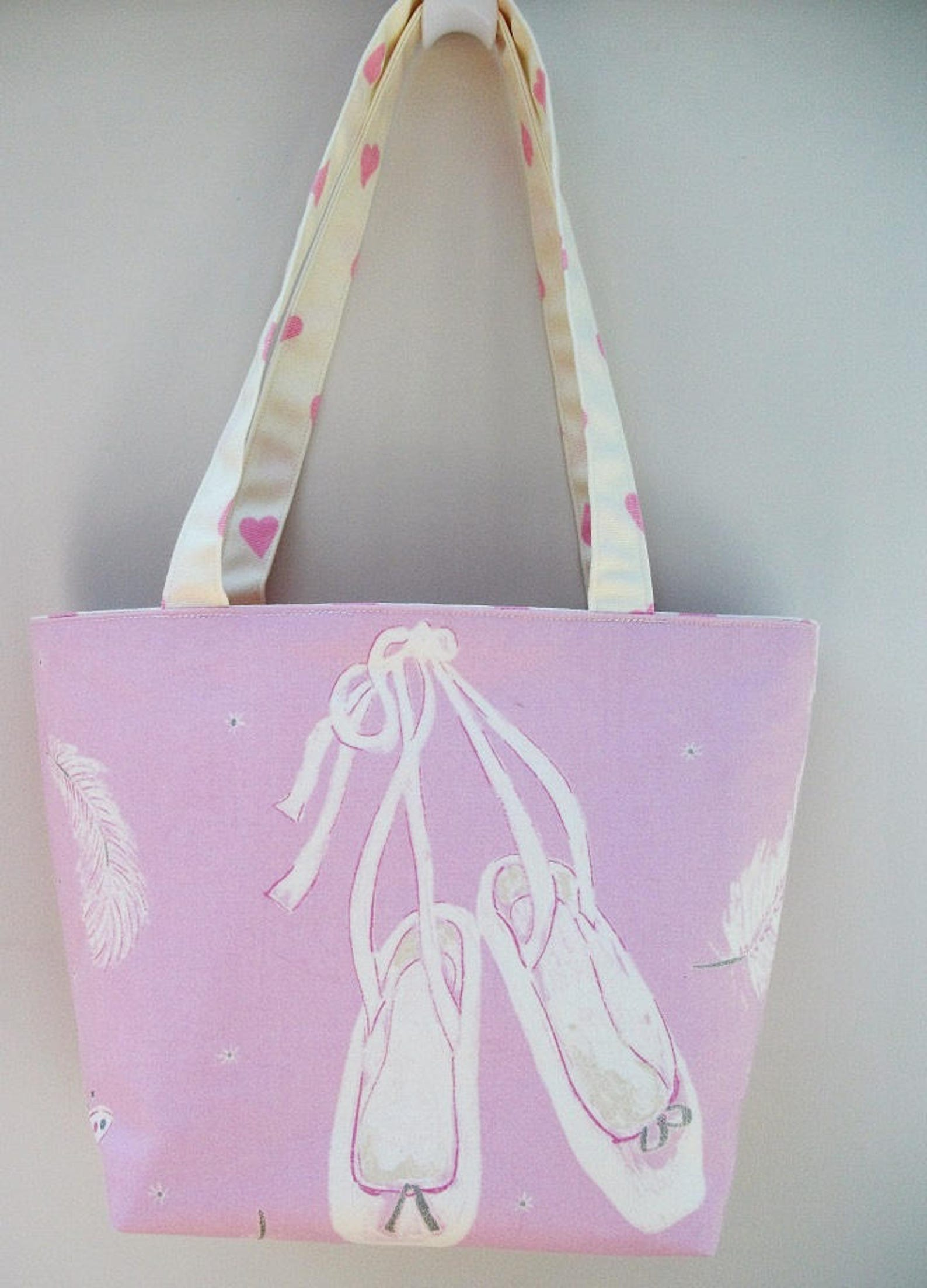 swan lake ballerina tote bag, ballet themed tote bag, ballet bag, ballet gift, gift for her, gift for ballerina, long handled to