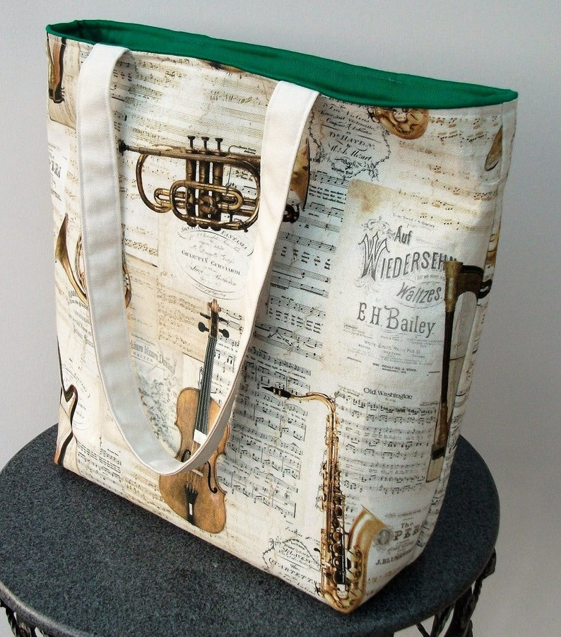 gift for music lover, Strauss tote bag music themed bag gift for musician music bag