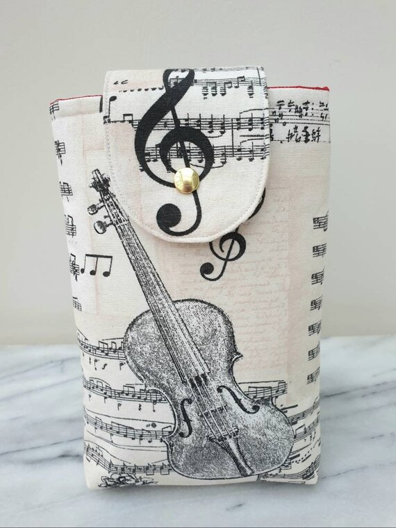 Book pouch, gift for book lover, book cover, gift music lover,  student gift, gift for mom, paperback cover,  music themed gift