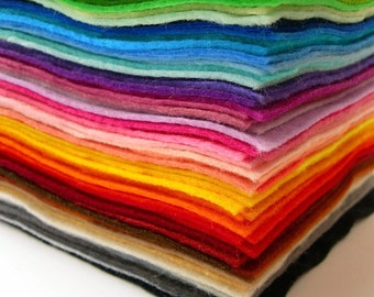 Wool blend felt squares 22 x 22cm - high quality - Crafting, Jewellery, children craft