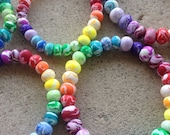Rainbow of colors Hand Rolled beads color palette bracelet