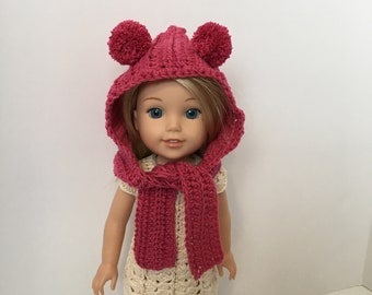 5 Little Monsters: 18 inch Doll Accessories: Owl Hat and Striped Scarf | 270x340