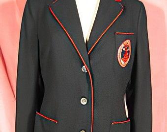 1950s Douglass College Classic Preppy Blazer Jacket