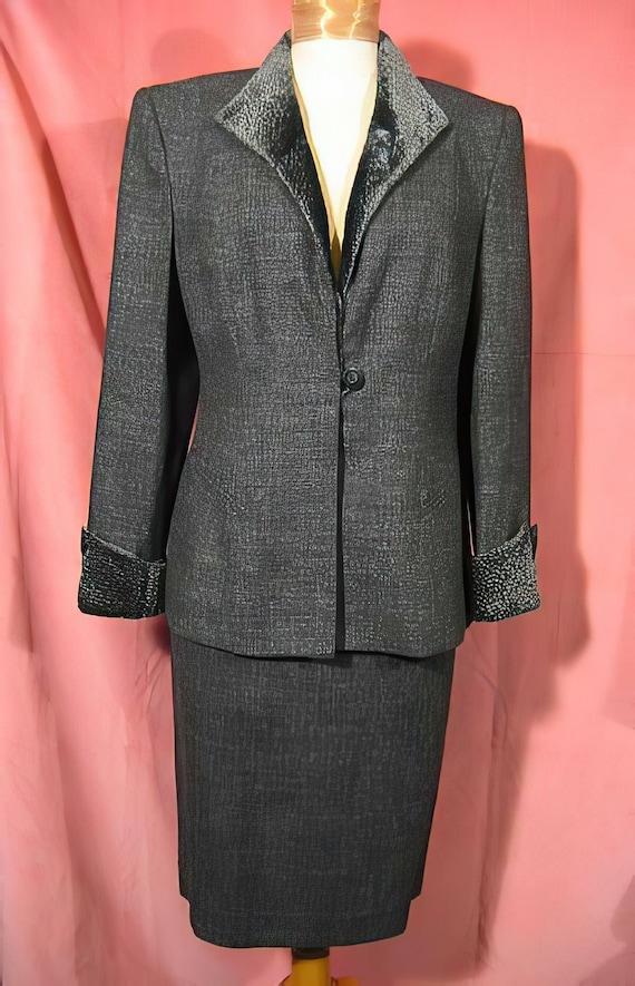 1970s Lilli Ann Gray Suit - image 1