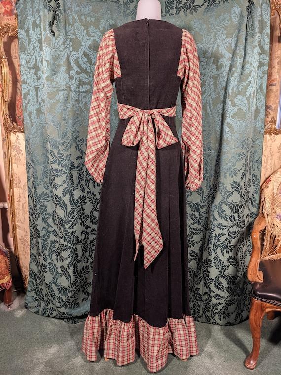 1970s Patchwork Dress Gunne Sax Style - image 4