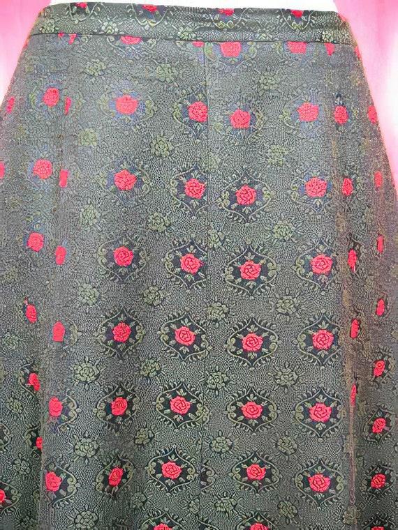 1970s Folk Skirt - Wool and Velvet Cottagecore - image 2