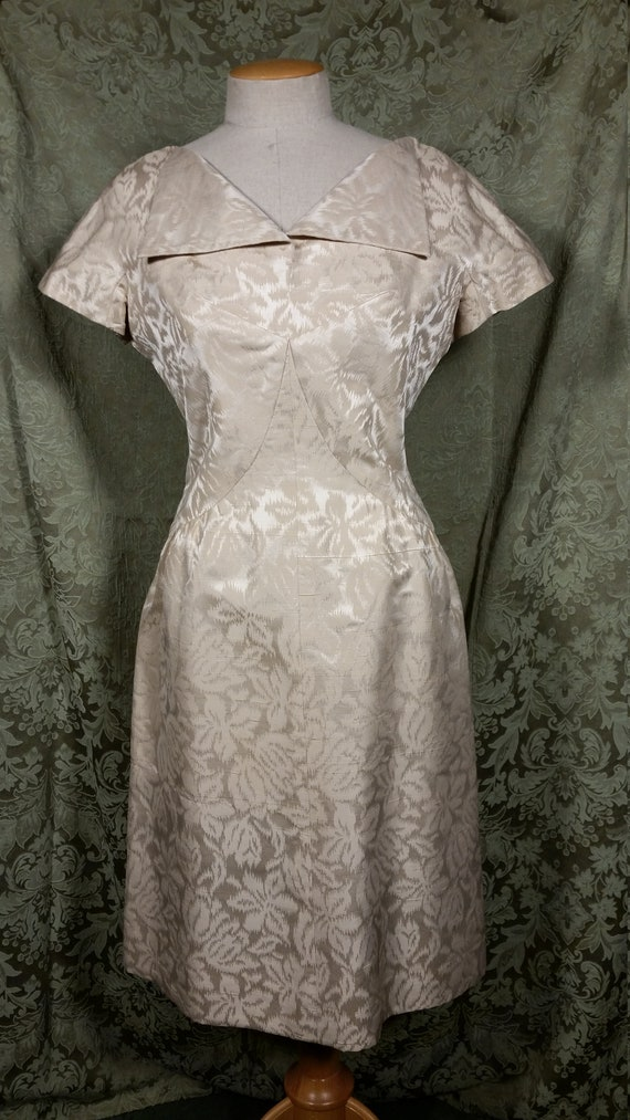 1960s Adele Simpson Silk Dress