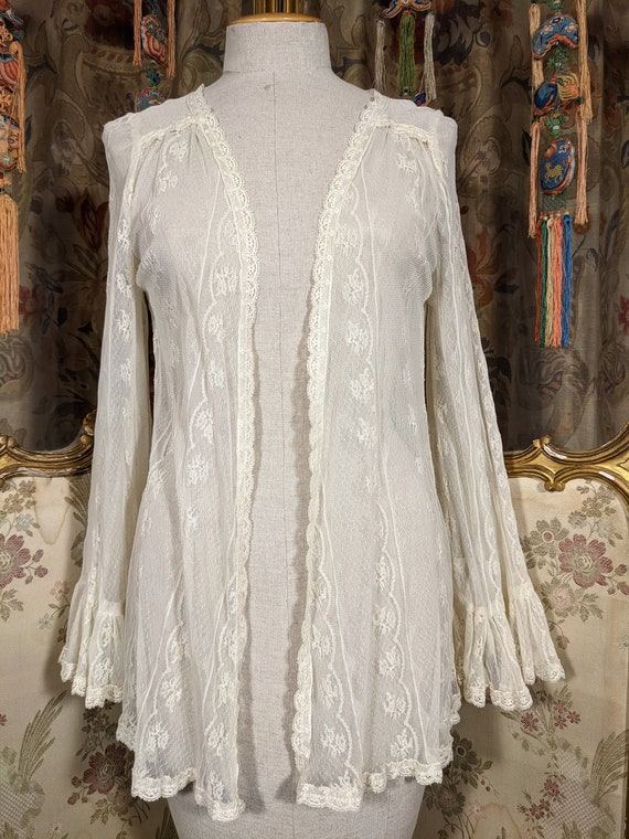 70s Gunnies Lace Jacket / Gunne Sax