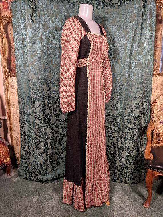 1970s Patchwork Dress Gunne Sax Style - image 3