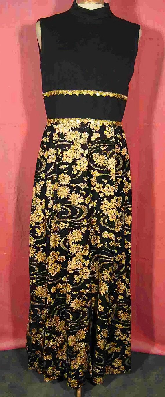 1960s Asian Print Dress