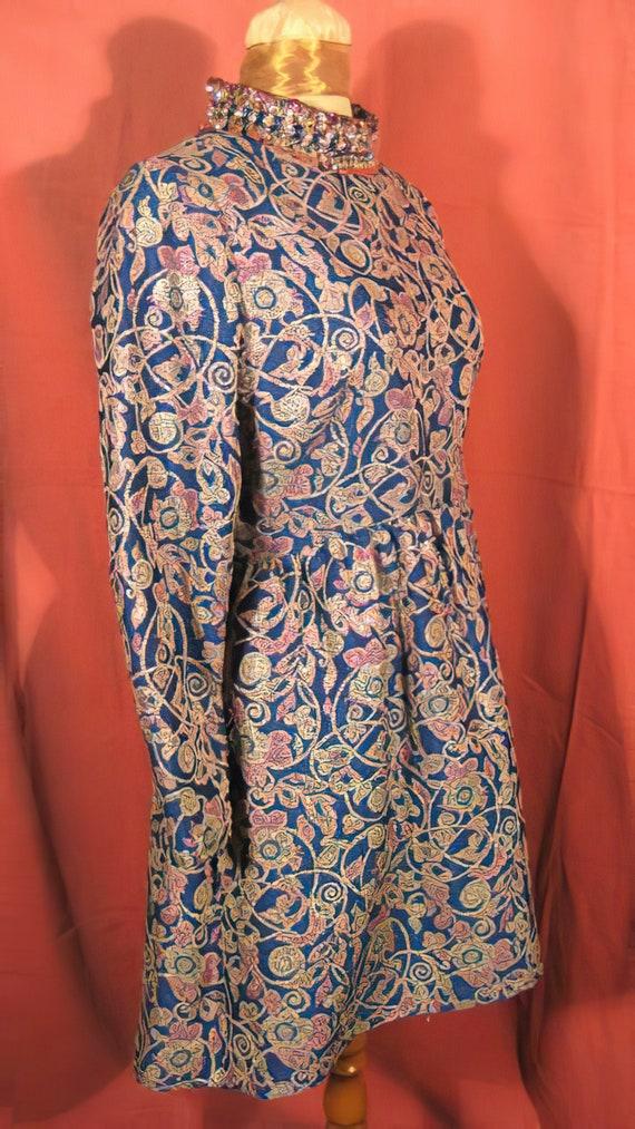 1960's Harvey Berin Dress Beaded Mini Mod Karen S… - image 6