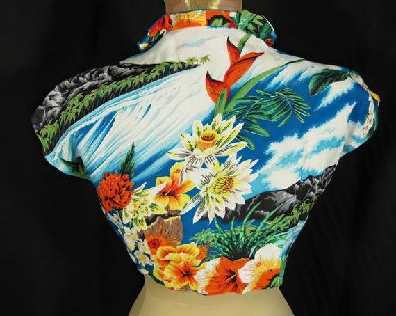 1940s Hale Hawaii Vintage Rayon Bolero Jacket Top - image 3