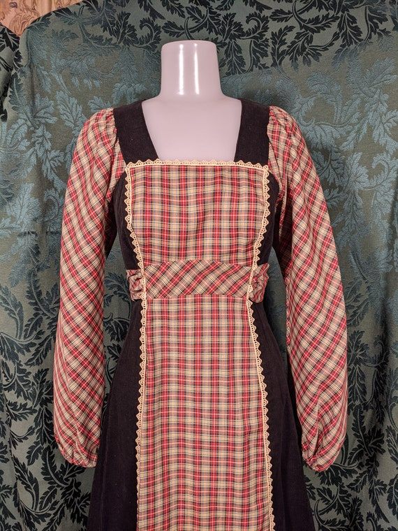 1970s Patchwork Dress Gunne Sax Style - image 2