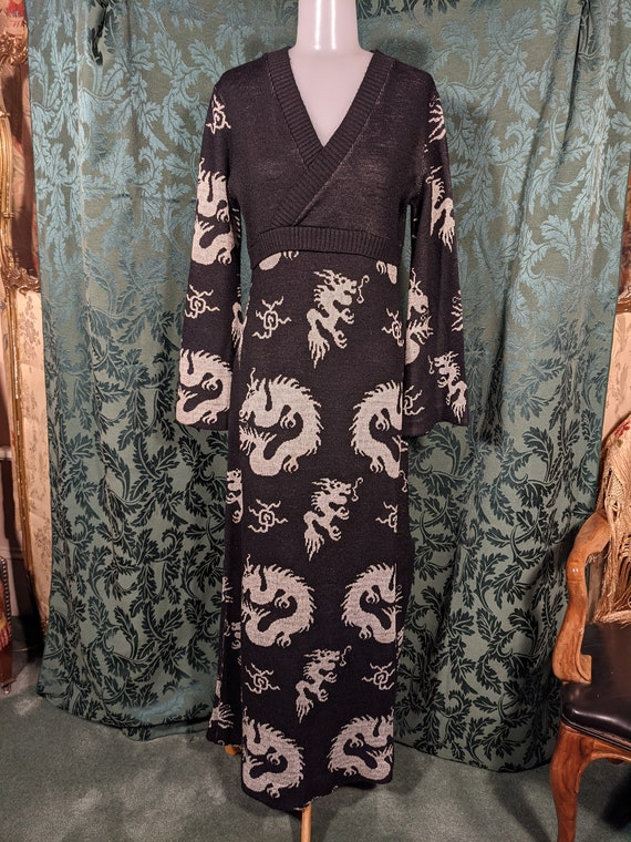 Vintage 70s Giorgio Sant Angelo Knits Dress Chines