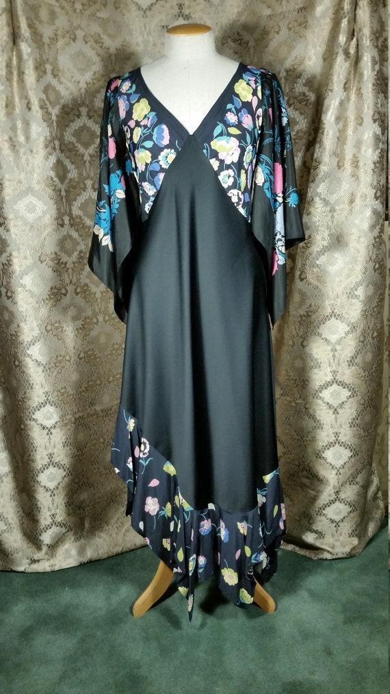 1970s Patchwork Boho Dress Vintage Fabric by Ellen
