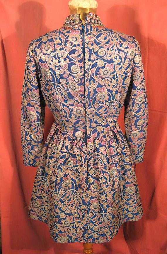1960's Harvey Berin Dress Beaded Mini Mod Karen S… - image 7