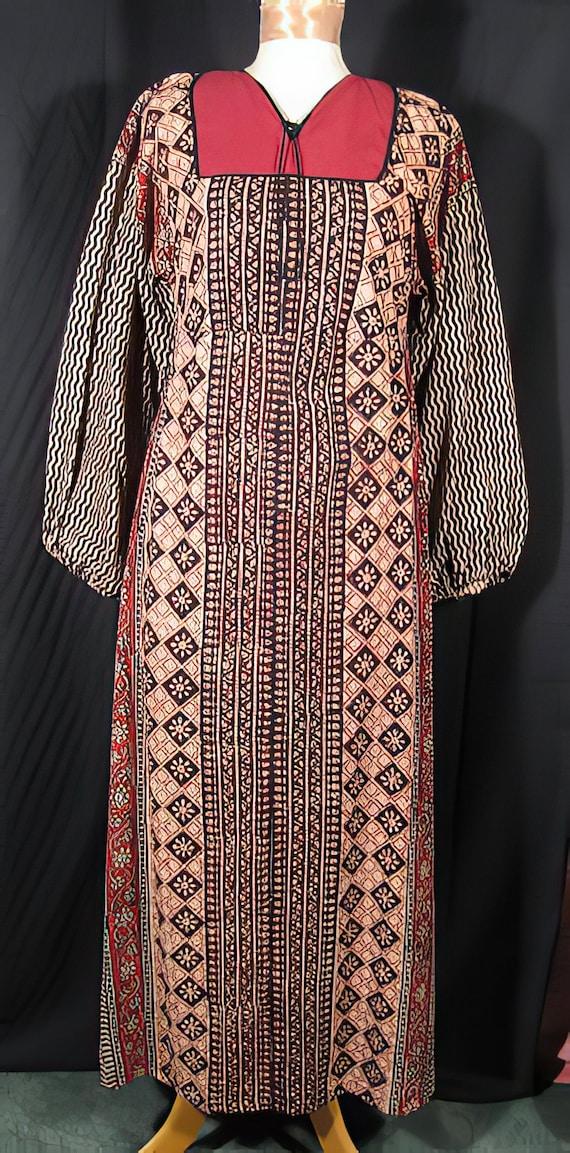 1960s Dress India Cotton Hippie Boho