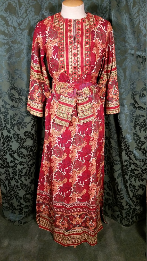 1960s Boho Hippie Dress from I. Magnin