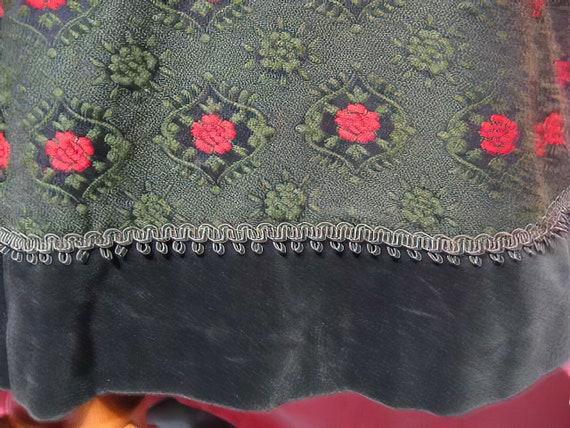 1970s Folk Skirt - Wool and Velvet Cottagecore - image 3