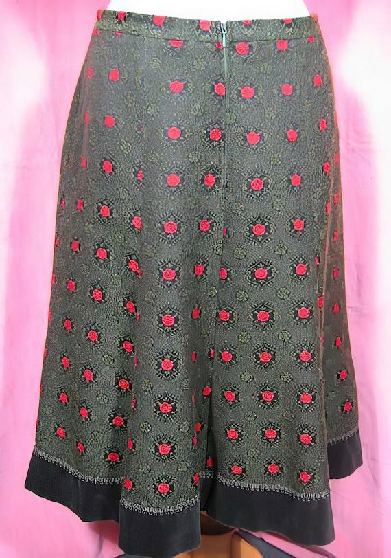 1970s Folk Skirt - Wool and Velvet Cottagecore - image 4
