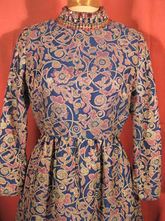 1960's Harvey Berin Dress Beaded Mini Mod Karen S… - image 2