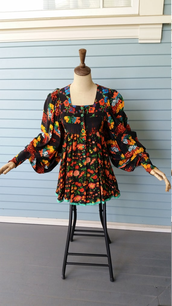 1970s Jeff Banks Vintage Top / Mini dress
