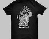 Mens Unisex Black Tshirt,...