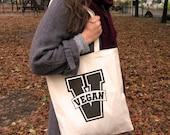Vegan V Logo Lettering, V...