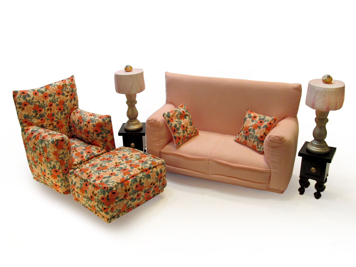 Barbie Doll Living Room Furniture 9-PC Play Set-1:6 scale ...