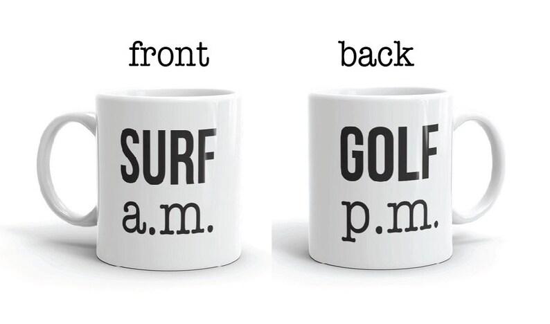 Surf a.m. Golf p.m.  Coffee Mug image 0