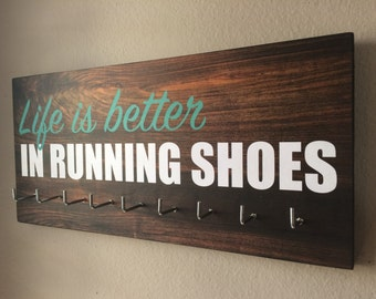 Race Medal Holder - Life is better in running shoes