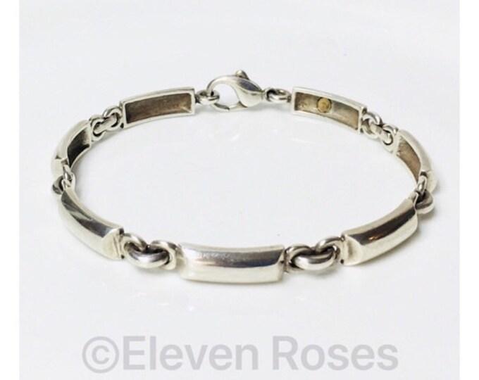 Movado Link Bracelet 925 Sterling Silver Free US Shipping