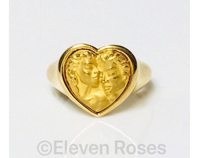 Carrera Y Carrera 750 18k Gold Romeo Juliet Heart Ring Free US Shipping