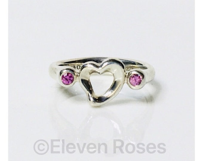 Tiffany & Co. Elsa Peretti Pink Sapphire Ring Free US Shipping