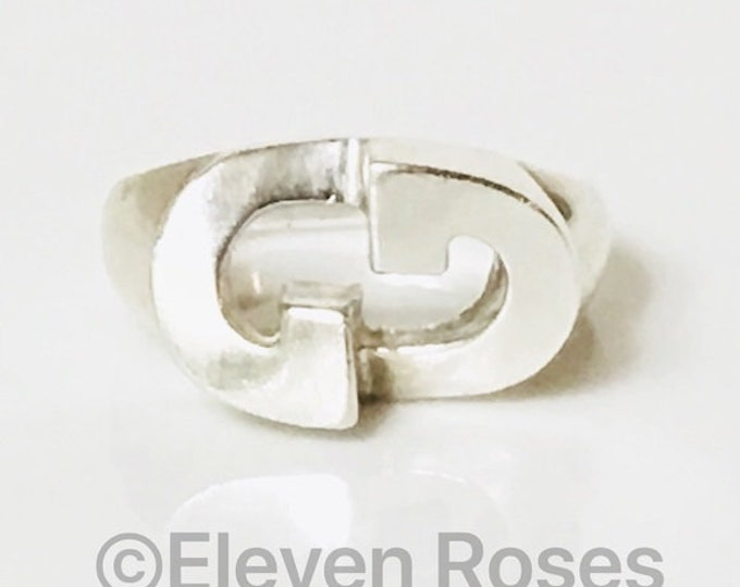 Gucci Large Elongated GG Statement Ring  925 Sterling Silver Free US Shipping