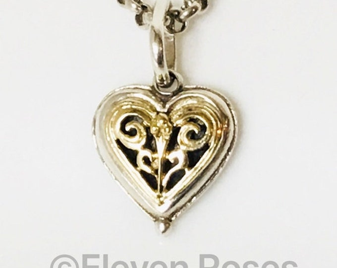Konstantino Heart Necklace 750 18k Gold 925 Sterling Silver Free US Shipping