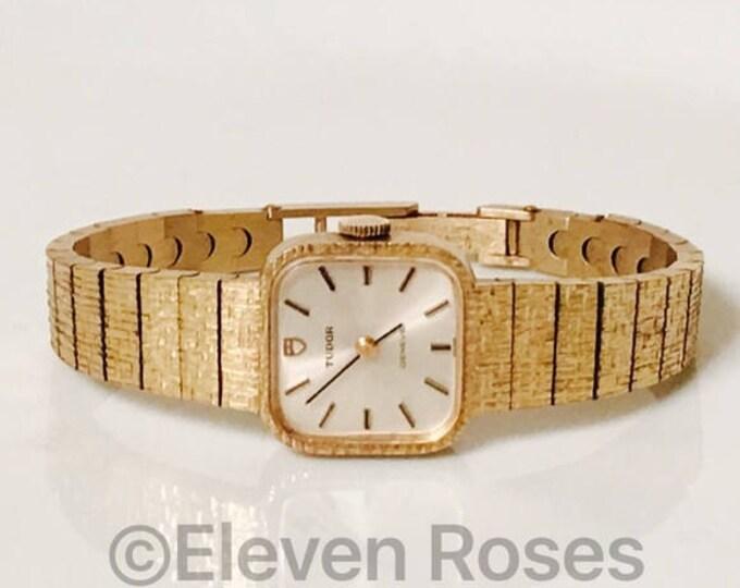 Ladies Rolex Tudor Gold Mechanical Dress Watch Free US Shipping