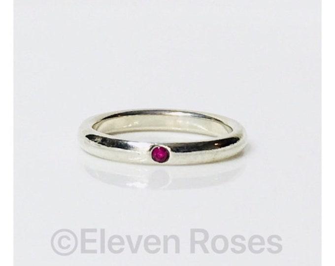 Tiffany & Co Elsa Peretti Ruby Stack Ring Free US Shipping