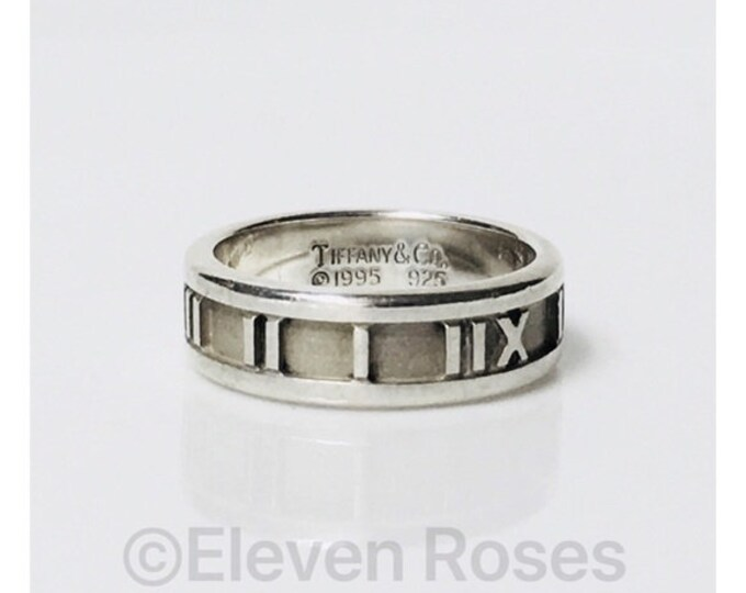 Tiffany & Co. 1995 Narrow Atlas Band Ring Free US Shipping
