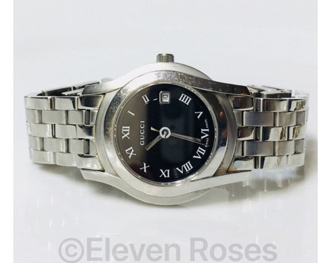Gucci 5500L Swiss Quartz Bracelet Watch Free US Shipping