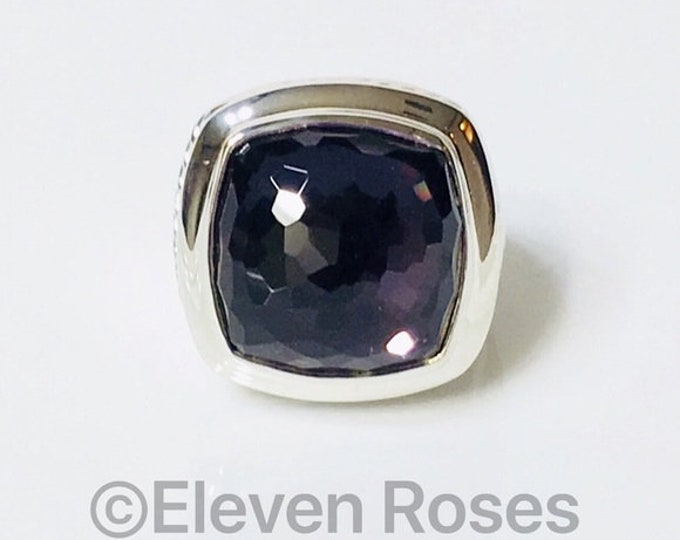 David Yurman Large Black Orchid Albion Ring 925 Sterling Silver Free US Shipping