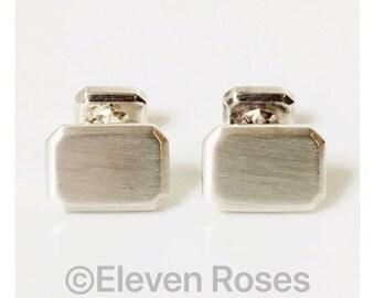 David Yurman Heirloom Classic Cufflinks Cuff Links DY 925 Sterling Silver Free US Shipping