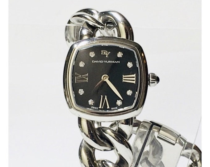 David Yurman Albion Swiss Quartz Watch With Diamonds Free US Shipping